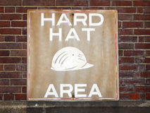 Hard Hat Area Sign Stock Photo
