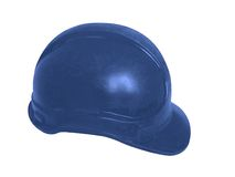 Hard hat in blue. For oil workers and miners Royalty Free Stock Image