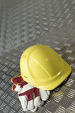 Hard hat, blue-collar idea Royalty Free Stock Images