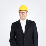Hard hat businessman Royalty Free Stock Photography