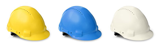 Hard hat color collection Royalty Free Stock Image