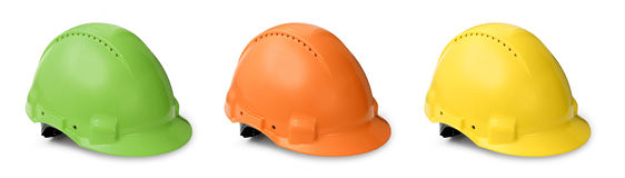 Hard hat color collection Royalty Free Stock Photography