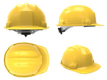 Hard hat composition. On white Royalty Free Stock Images