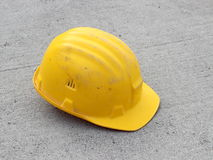 Hard hat on concrete Stock Photography
