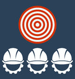 Hard Hat Construction Icon. Target business concept vector illustration