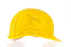 Hard hat of a construction worker Stock Photos