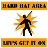 Hard hat dare Royalty Free Stock Photography