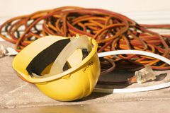 Hard Hat electrical wiring Stock Photos