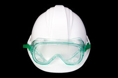 Hard Hat and Googles Stock Image