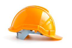 Hard hat for industrial workers, engineers & architect Stock Image