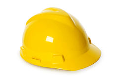 Hard hat isolated on the white Royalty Free Stock Photography