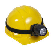 Hard Hat With Lamp Stock Photography