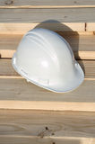 Hard Hat on Lumber Royalty Free Stock Image