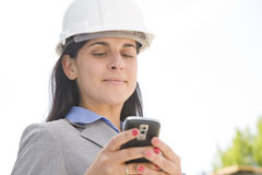 Hard hat messages Royalty Free Stock Images