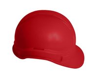 Hard hat in red. For rescue and fire fighters Royalty Free Stock Images