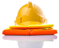 Hard Hat And Reflective Vest III Stock Photography