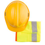 Hard Hat And Reflective Vest VI Royalty Free Stock Images