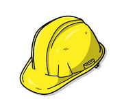 Hard Hat or Safety Hat. A hand drawn vector doodle illustration of a hard hat Stock Images