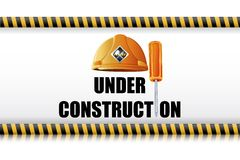 Hard Hat with Screw Driver Royalty Free Stock Image