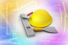 Hard hat with tools Royalty Free Stock Images