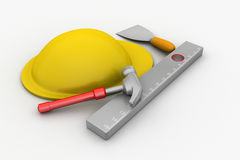 Hard hat with tools Royalty Free Stock Image