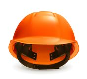 Hard hat vector icon. On white background Royalty Free Stock Images
