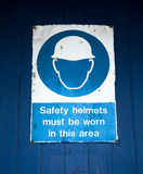 Hard Hat Warning sign Royalty Free Stock Image