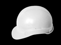 Hard hat in white Stock Images