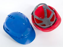Hard Hat2. Red and Blue Hard Hats Royalty Free Stock Image