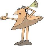Hard of hearing caveman Stock Photography