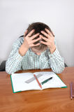 Hard homework Stock Photography