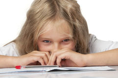 Hard homework Royalty Free Stock Photography