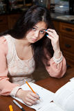 Hard Homework Royalty Free Stock Images