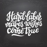 Hard labor makes wishes come true Stock Photography