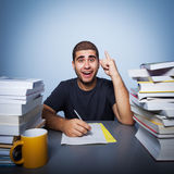 Hard life of student Royalty Free Stock Image