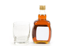 Hard Liquor Bottle Stock Photo