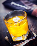 Hard Liquor with Orange juice Royalty Free Stock Photo