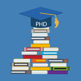 Hard and Long Way to the Doctor of Philosophy Degree PHD Stock Photography