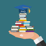 Hard and Long Way to the Doctor of Philosophy Degree PHD Royalty Free Stock Image