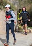 Hard marathon mountain race, road Royalty Free Stock Photos