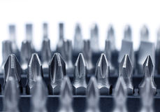 Hard metal tool bits collection Royalty Free Stock Images