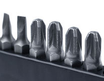 Hard metal tool bits Stock Image