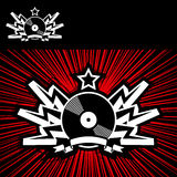 Hard Music. Coat Of Arms On Red Background Stock Photo