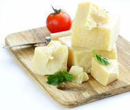 Hard natural parmesan cheese Stock Image