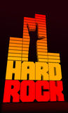 Hard rock. Logo based on a graphic equalizer Royalty Free Stock Photo
