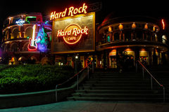 Hard Rock Cafe размещало на всеобщем городе в Орландо, Флориде Стоковые Фотографии RF