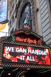Hard Rock Cafe. The Hard Rock Cafe sign in Times Square, New York Royalty Free Stock Photos