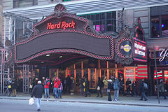 Hard Rock Cafe. In Times Square, in New York City Stock Photos