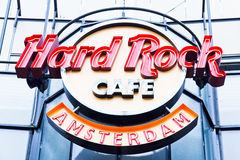 Hard Rock Cafe Amsterdam Fotografie Stock