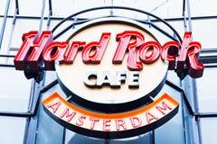 Hard Rock Cafe Amsterdam Stockfotos